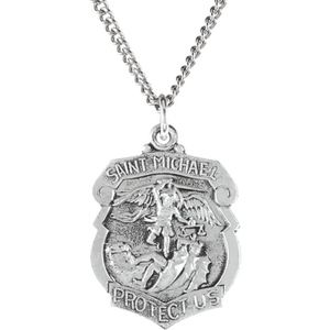 """Other - St. Michael Medal 24"""" Necklace"""